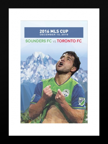 Sounders FC MLS CUP 3 | Basic 12 x 18 2016