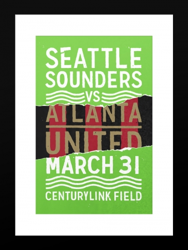 Sounders FC vs Atlanta United FC | Basic 12 x 18 2017