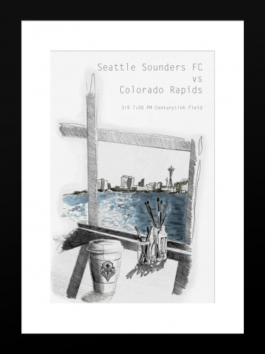 Sounders FC vs Colorado Rapids | Basic 12 x 18 2019
