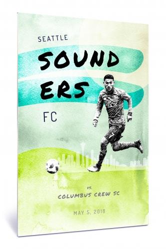 Sounders FC vs Columbus Crew SC | Chroma 12 x 18 2018