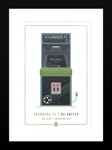 Sounders FC vs D.C. United | Basic 12 x 18 2017