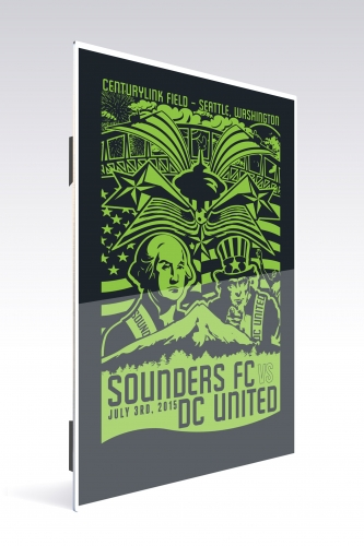 Sounders FC vs D.C. United | Chroma 12 x 18 2015