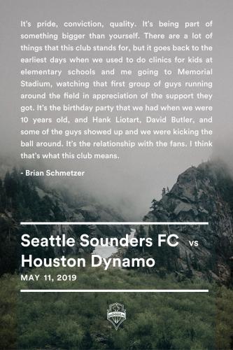 Sounders FC vs Houston Dynamo 2019