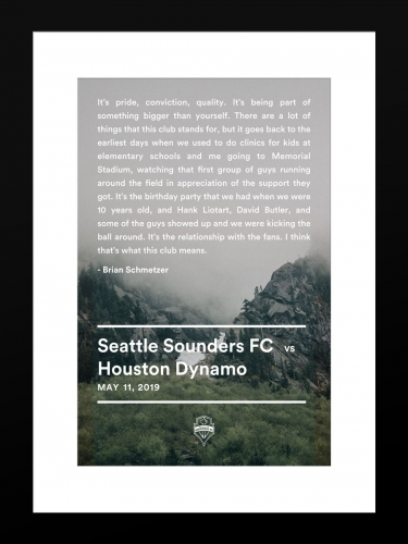 Sounders FC vs Houston Dynamo | Basic 12 x 18 2019