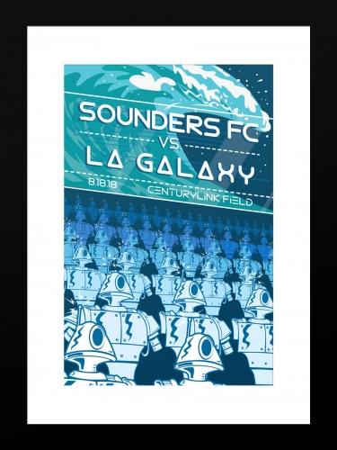 Sounders FC vs LA Galaxy | Basic 12 x 18 2018