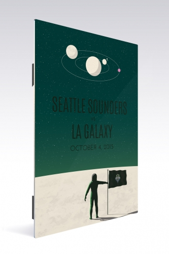 Sounders FC vs LA Galaxy | Chroma 12 x 18 2015