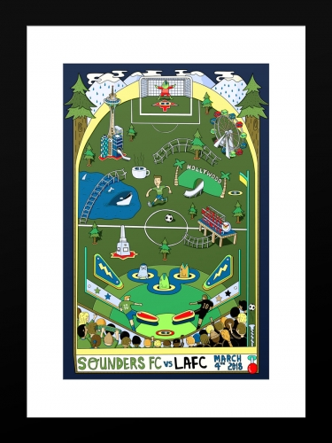 Sounders FC vs Los Angeles Football Club | Basic 12 x 18 2018