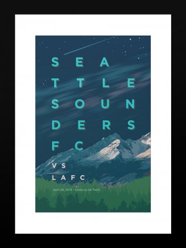 Sounders FC vs Los Angeles Football Club | Basic 12 x 18 2019