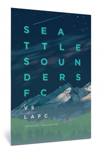 Sounders FC vs Los Angeles Football Club | Chroma 12 x 18 2019