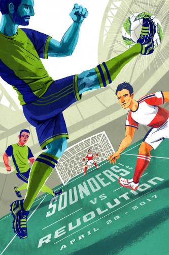 Sounders FC vs New England Revolution 2017