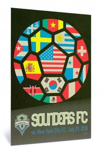 Sounders FC vs New York City FC | Chroma 12 x 18 2018