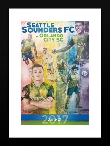 Sounders FC vs Orlando City | Basic 12 x 18 2017