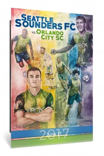 Sounders FC vs Orlando City | Chroma 12 x 18 2017