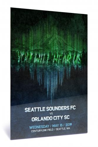 Sounders FC vs Orlando City SC   Chroma 12 x 18 2019