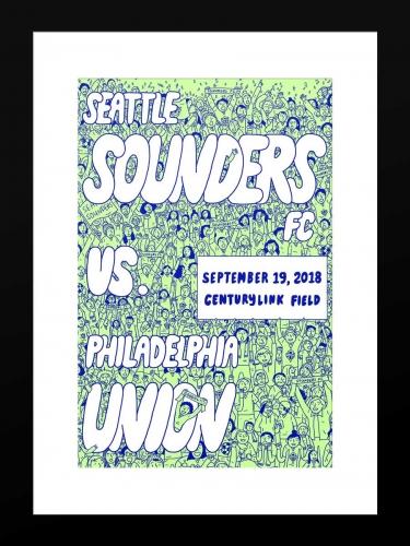 Sounders FC vs Philadelphia Union | Basic 12 x 18 2018