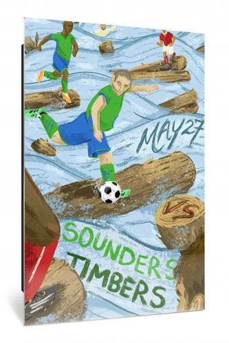 Sounders FC vs Portland Timbers | Chroma 12 x 18 2017