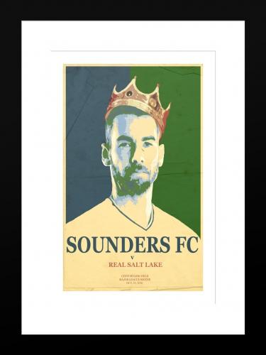 Sounders FC vs Real Salt Lake 2 | Basic 12 x 18 2016
