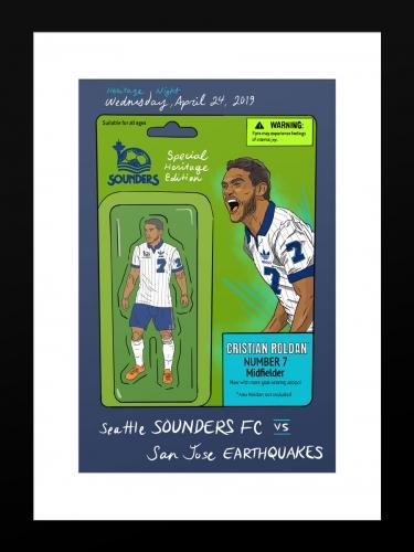 Sounders FC vs San Jose Earthquakes   Basic 12 x 18 2019