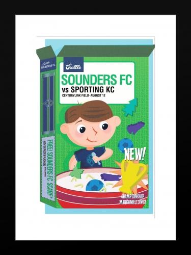 Sounders FC vs Sporting Kansas City   Basic 12 x 18 2017