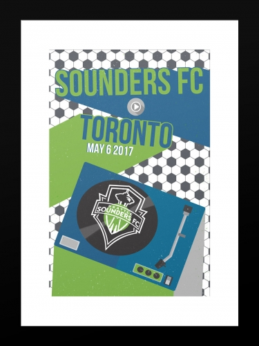 Sounders FC vs Toronto FC | Basic 12 x 18 2017
