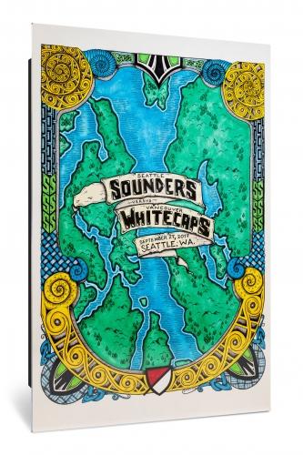 Sounders FC vs Vancouver Whitecaps FC   Chroma 12 x 18 2017