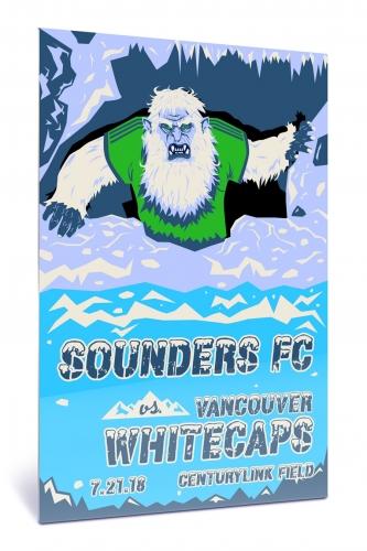 Sounders FC vs Vancouver Whitecaps FC | Chroma 12 x 18 2018