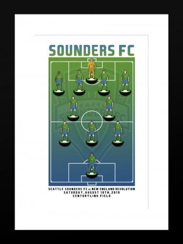 Sounders FC vs New England Revolution | Basic 12 x 18 2019