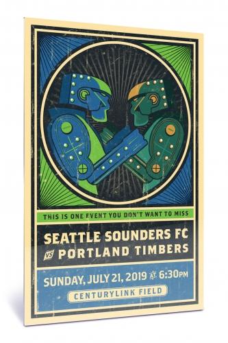 Sounders FC vs Portland Timbers | Chroma 12 x 18 2019